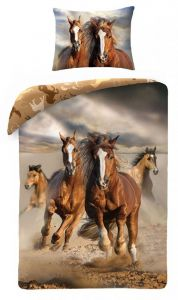 Bavlněné povlečení Divocí koně