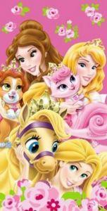 Motiv pěkných princezen na kvalitní dětské osušce Princezny 2015, Jerry Fabrics