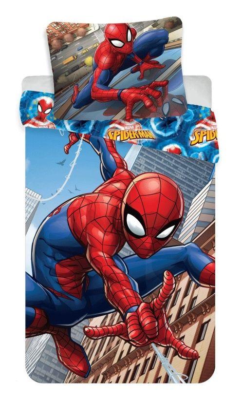 """Dětské bavlněné ložní povlečení Spiderman """"climbs"""", Jerry Fabrics"""