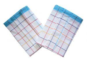 Utěrka Ba z egyptské bavlny 50x70 barevný proužek - tyrkysová 3 ks