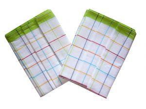 Utěrka Ba z egyptské bavlny 50x70 barevný proužek - zelená 3 ks