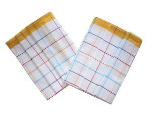 Utěrka Bavlna z egyptské bavlny barevný proužek oranžová - 3 ks