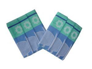 V modré barvě laděné bavlněné utěrky Šálek modrý, Svitap