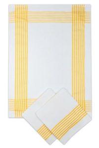 Utěrky vaflové žluté - 3 ks