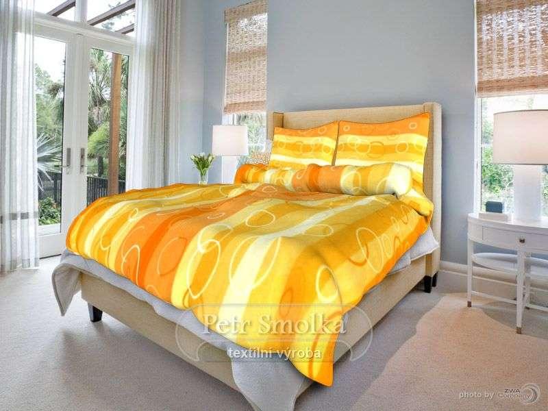 Kola oranžová bavlněné ložní povlečení