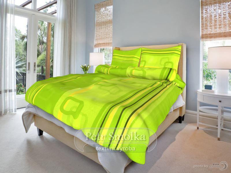 Tonda zelený krepové ložní povlečení