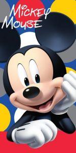 S postavičkou myšáka kvalitní plážová dětská osuška Mickey dots, Jerry Fabrics