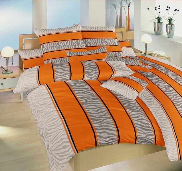 Bavlněné ložní povlečení Safari oranžové