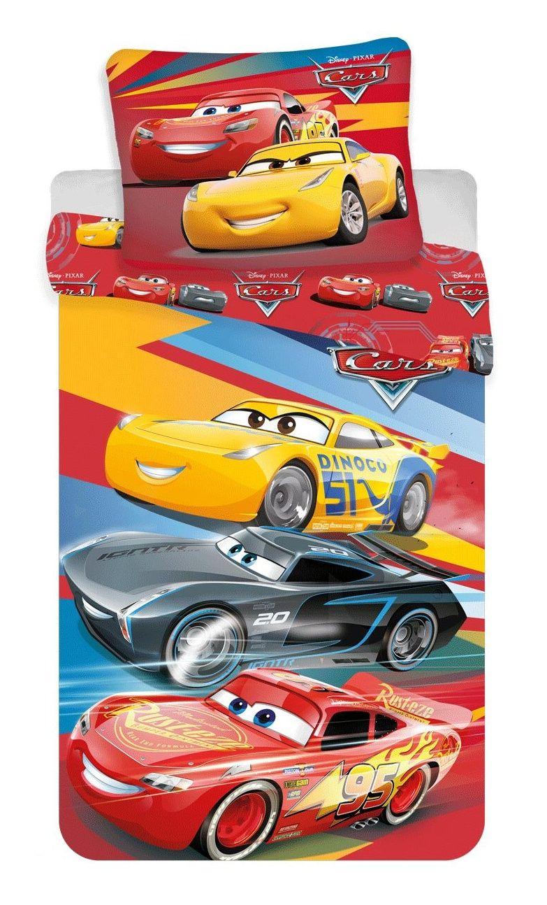 Bavlněné dětské ložní povlečení Cars red 02
