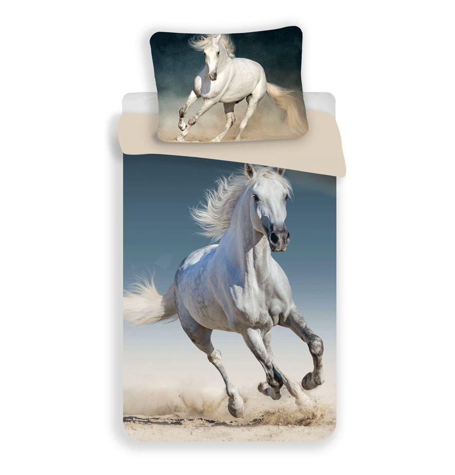 Bavlněné ložní povlečení fototisk Kůň 03