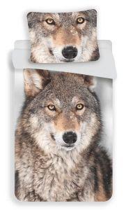 Bavlněné povlečení fototisk Vlk