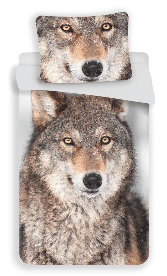 Bavlněné ložní povlečení fototisk Vlk