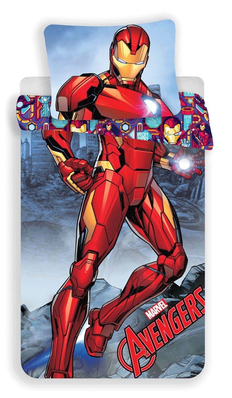 Dětské bavlněné ložní povlečení Iron-man