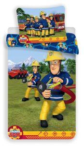 S postavou hasiče kvalitní dětské bavlněné ložní povlečení Požárník Sam 008, Jerry Fabrics