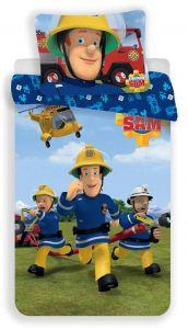 S postavou hasiče kvalitní dětské bavlněné ložní povlečení Požárník Sam 01, Jerry Fabrics