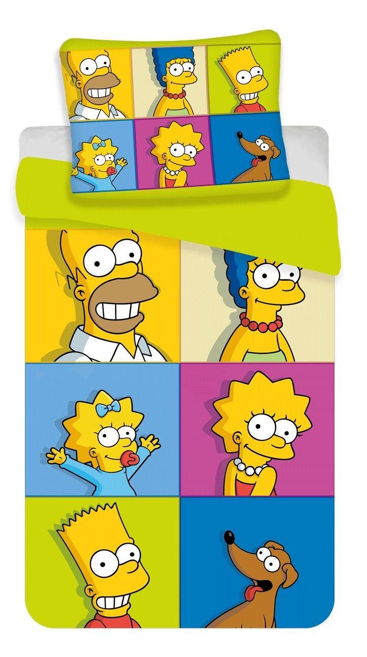 Bavlněné dětské ložní povlečení Simpsons square