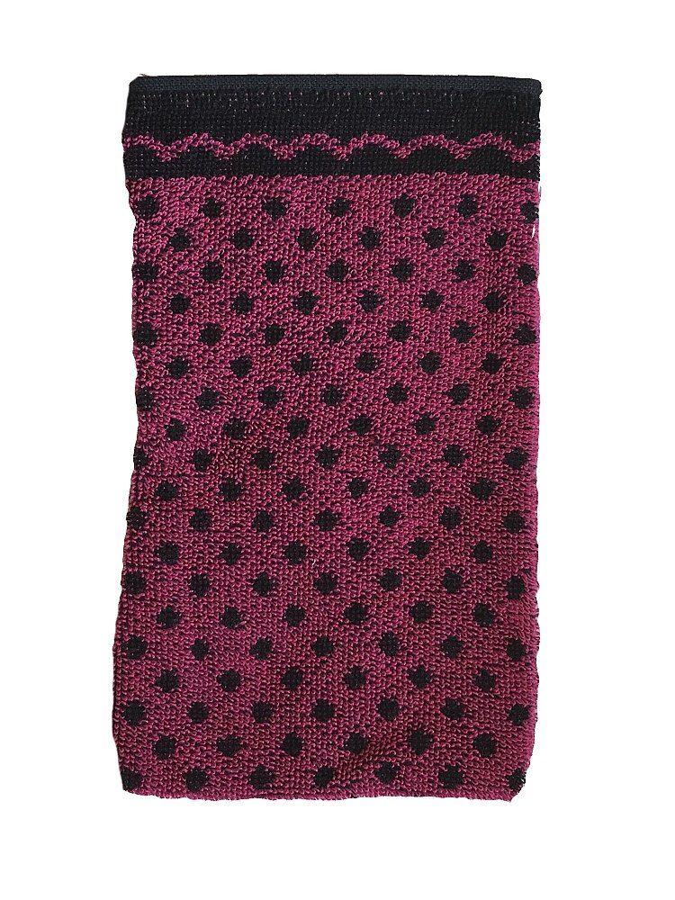 V kombinaci barev černé a fialové kvalitní mycí froté žínka černý puntík/ostružinová, Frotex