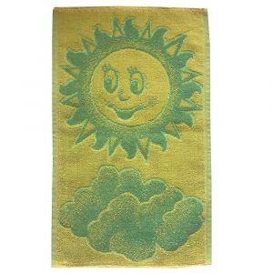 Dětský ručník Sluníčko žlutozelené