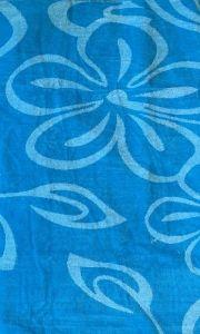 Plážová osuška Květy tyrkysové 100x180 cm