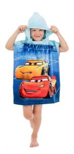 Dětské bavlněné pončo pro chlapce Cars blue 02 Jerry Fabrics