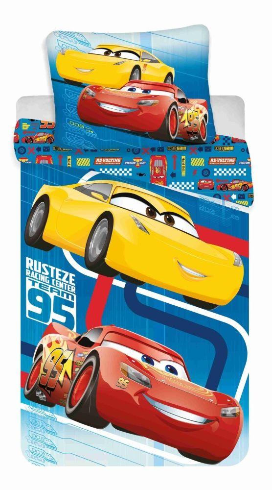 Bavlněné ložní povlečení Cars blue 02