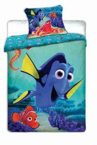 Modrá rybka na kvalitním bavlněném ložním dětském povlečení Dory, Jerry Fabrics