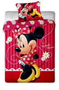 Nádherné kvalitní dětské bavlněné ložní povlečení Disney - Minnie stripe 2015, Jerry Fabrics