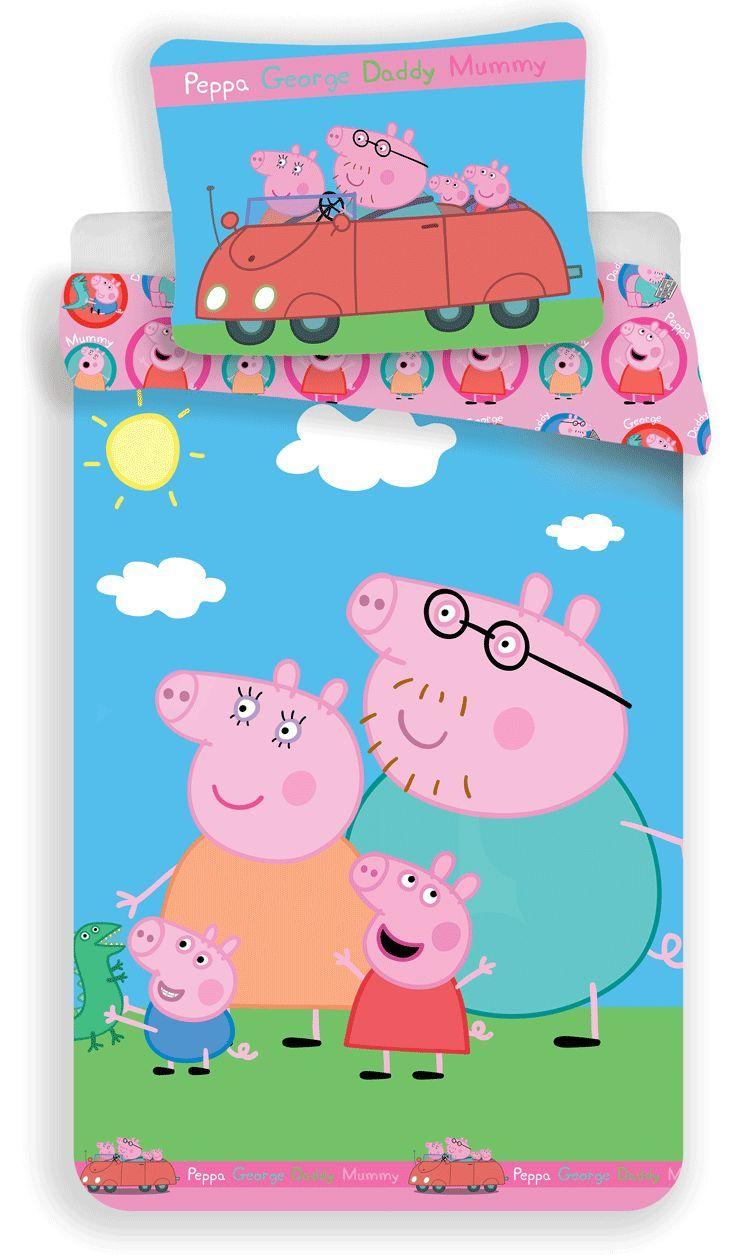 S dětským motivem kvalitní bavlněné ložní povlečení Prasátko Pepina 023, Jerry Fabrics