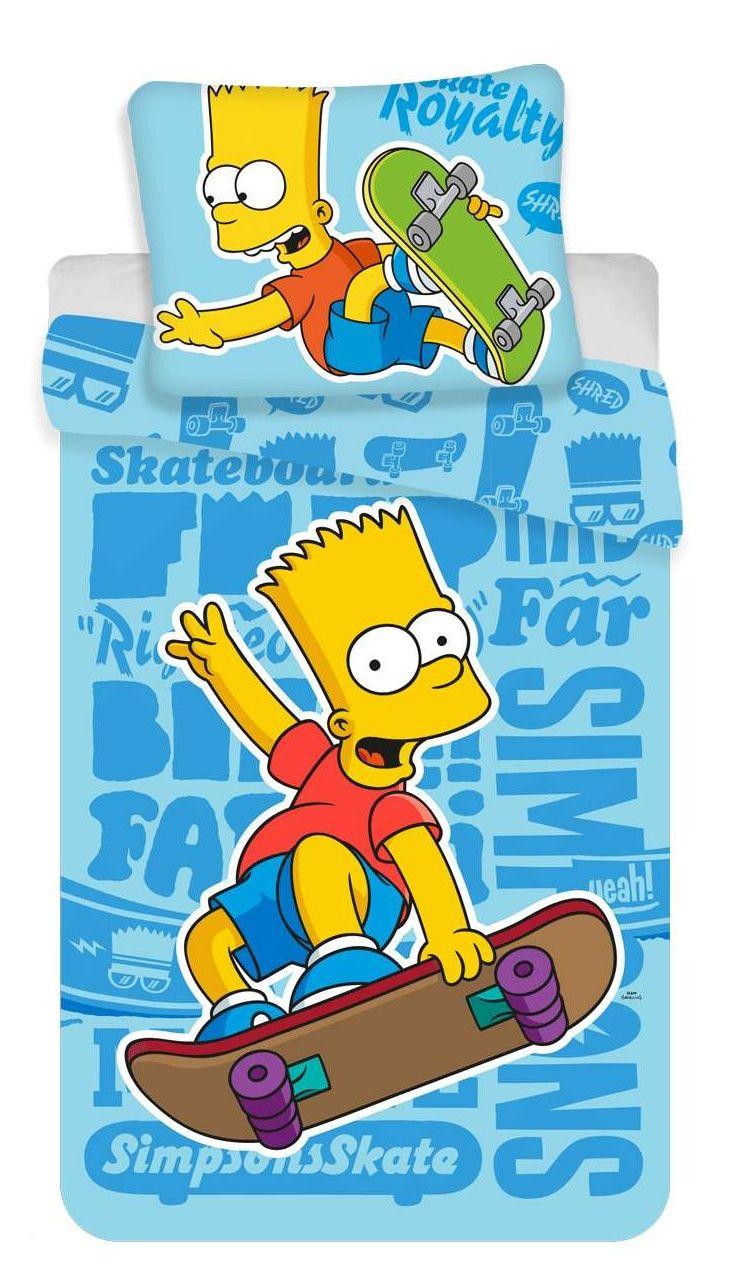Bavlněné ložní povlečení Simpsons Bart blue 02