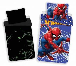 Bavlněné povlečení Spiderman svítící efekt