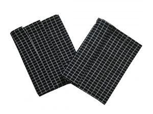 Utěrka Extra savá Drobná kostka černo/bílá - 3 ks