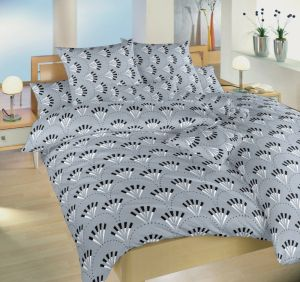 S nevšedním vzorem kvalitní bavlněné ložní povlečení Gabru šedý, Dadka