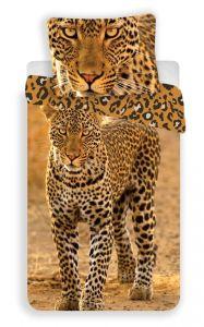 Bavlněné ložní povlečení se zvířecím obrázkem Leopard 2017, Jerry Fabrics