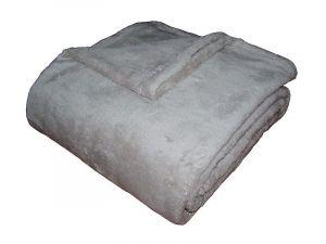 Hřejivá jednobarevná kvalitní Fine soft deka Dadka světle šedá,