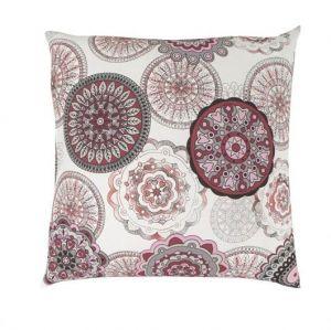Nádherné bavlněné povlečení DELUX ZATARA červená s moderními ornamenty kruhovitých tvarů, Kvalitex