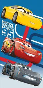 Pro malé děti, pro kluky, kvalitní dětská plážová bavlněná osuška Cars blue 95, Jerry Fabrics