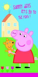 S motivem růžového prasátka kvalitní dětská plážová osuška Peppa Pig 009, Jerry Fabrics