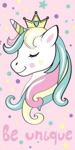 Osuška Unicorn pink 70x140 cm