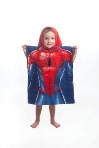 Ze 100% bavlny kvalitní pončo Spiderman blue, Jerry Fabrics