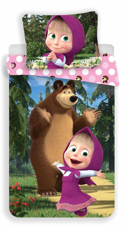 Dětské bavlněné povlečení s motivem pohádky máša a medvěd, Jerry Fabrics