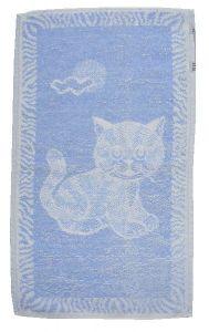 Dětský ručník Kotě světle modré
