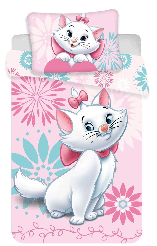 Disney povlečení do postýlky Marie cat flowers baby Jerry Fabrics