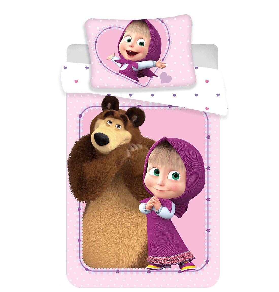 Disney povlečení do postýlky Máša a Medvěd baby Jerry Fabrics