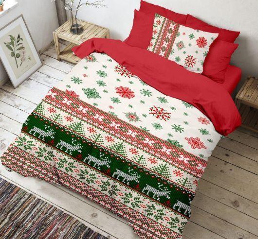 Krásné bavlněné vánoční povlečení Christmas 3D, Kvalitex