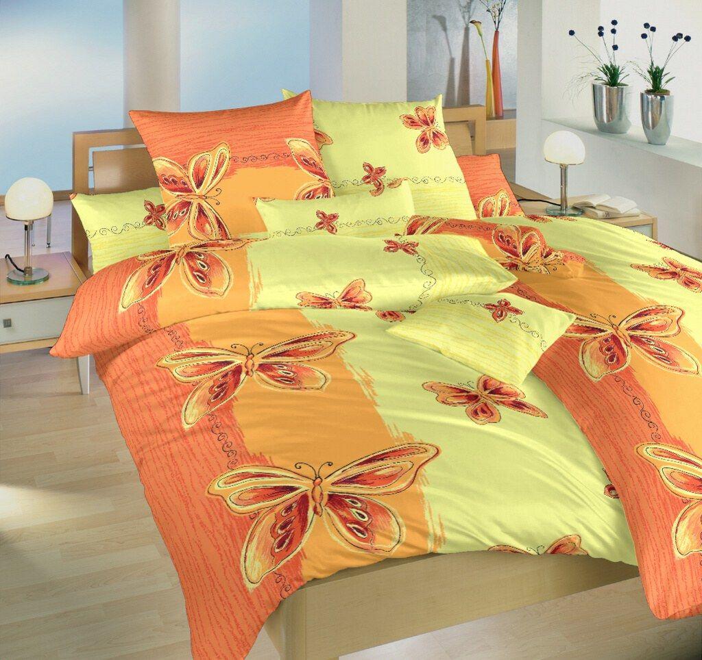 Motiv motýlků na kvalitním krepovém ložním povlečení Motýl žlutý, Dadka