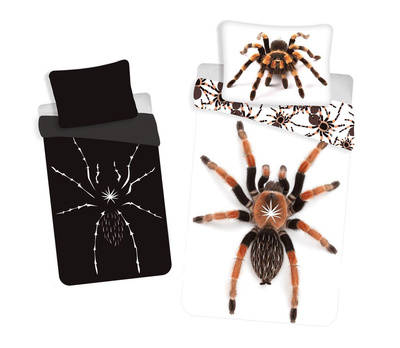 Moderní bavlněné povlečení s motivem pavouka svítícího ve tmě, Jerry Fabrics