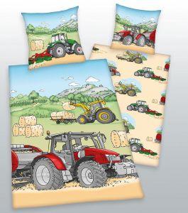 Bavlněné povlečení do postýlky Traktor