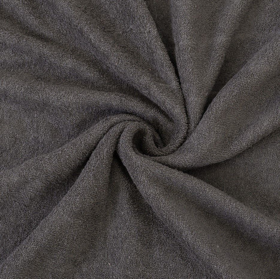 Kvalitní napínací froté prostěradlo českého výrobce tmavě šedé barvy, Kvalitex