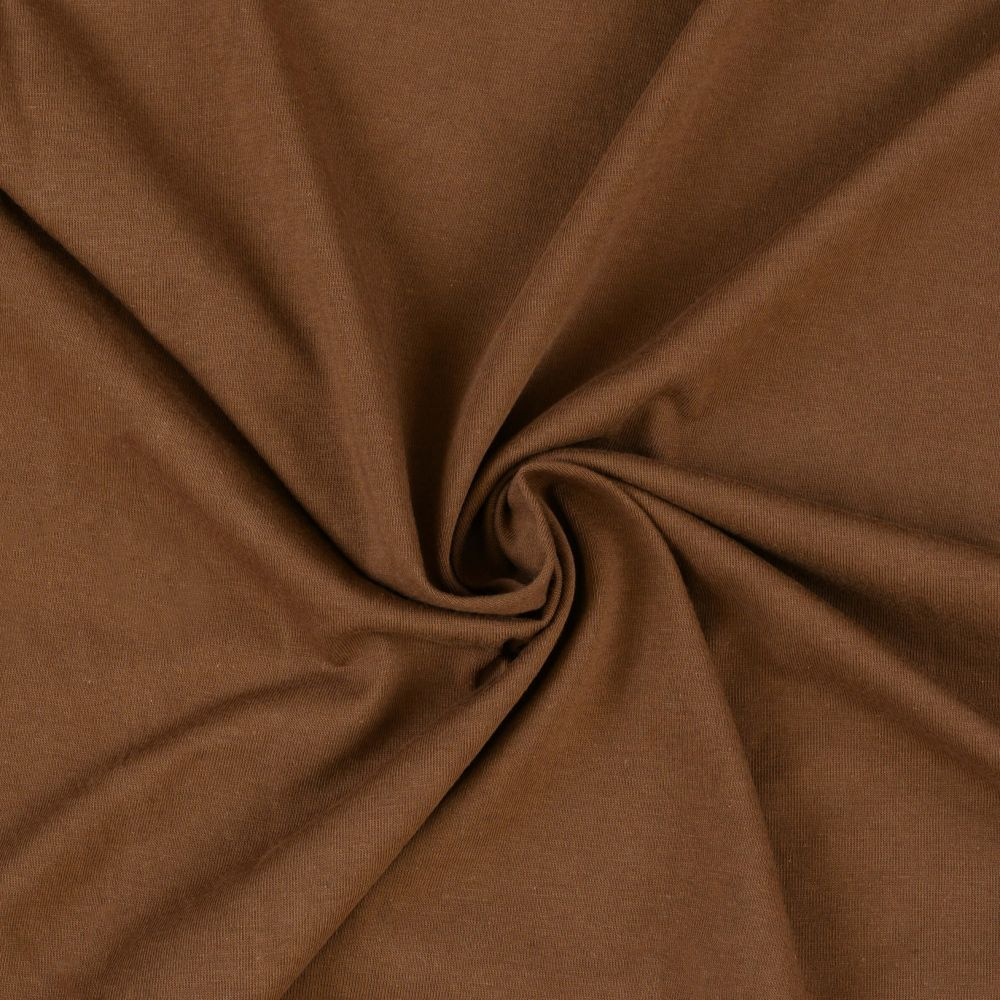 Jersey prostěradlo tmavě hnědé