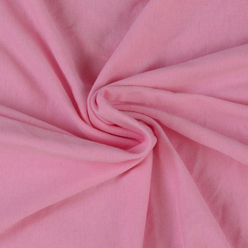 Jersey prostěradlo světle růžové